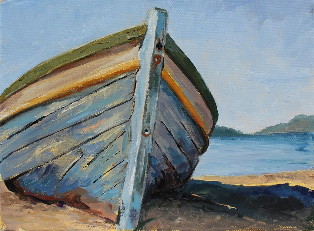 """Old boat "" original fine art by Marco Vazquez"
