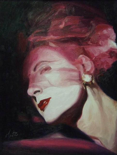 """Pink netting"" original fine art by Chris Martin"