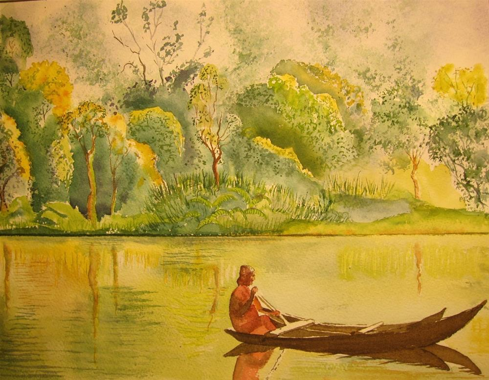 """Serenity on Water, India"" original fine art by Tim Barraud"