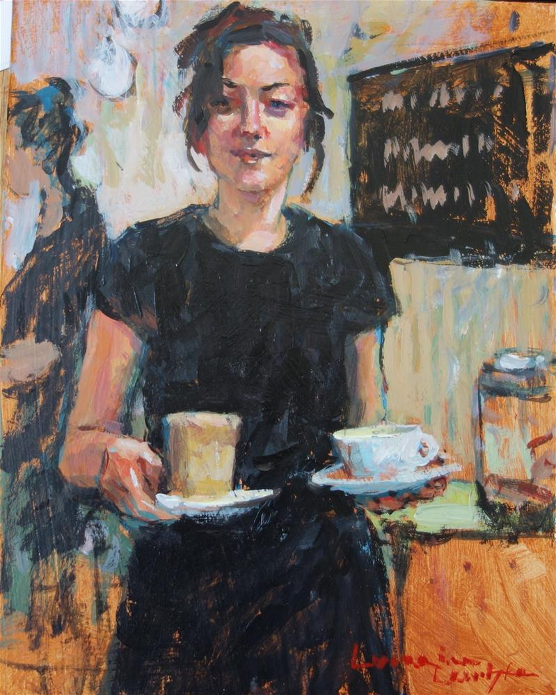 """Cafe Latte"" original fine art by Lorraine Lewitzka"