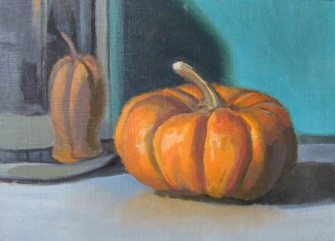 """34 - Pumpkin"" original fine art by Ed Watson"