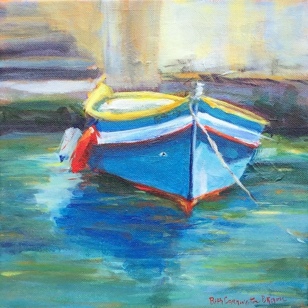 """Maltese Fishing Boat 10 x 10"" original fine art by Beth Carrington Brown"
