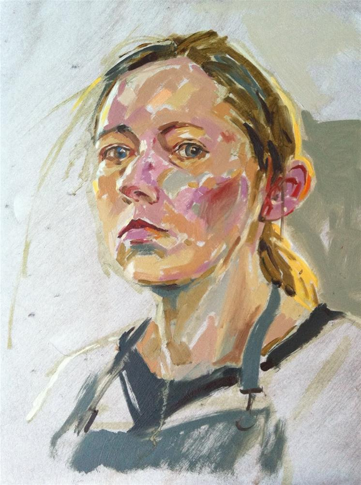 """Self portrait with warm backlighting"" original fine art by Haidee-Jo Summers"