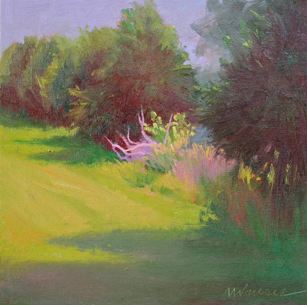 """""""#65 Aglow in the row"""" original fine art by Nancy Wallace"""