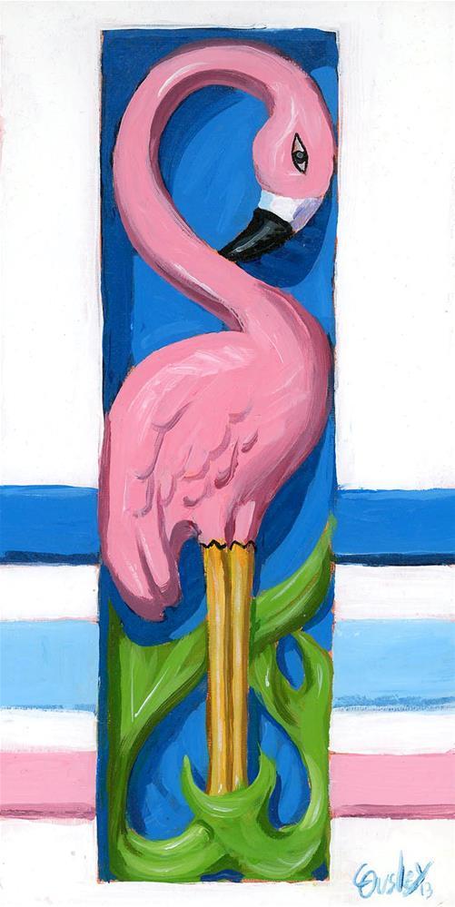 """""""Flamingo (Art Deco)"""" original fine art by Chris Ousley"""