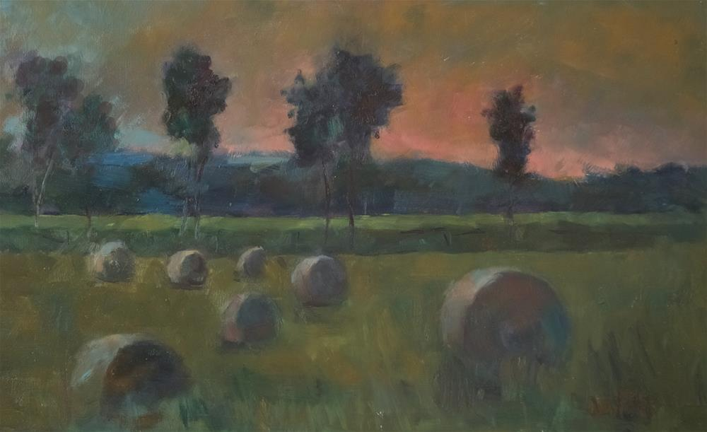 """Hay Bales at East Grinstead"" original fine art by Andre Pallat"
