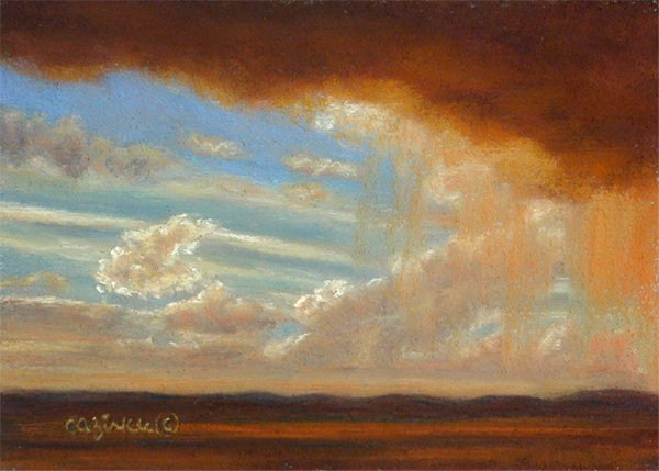 """Raining Gold"" original fine art by Carol Zirkle"