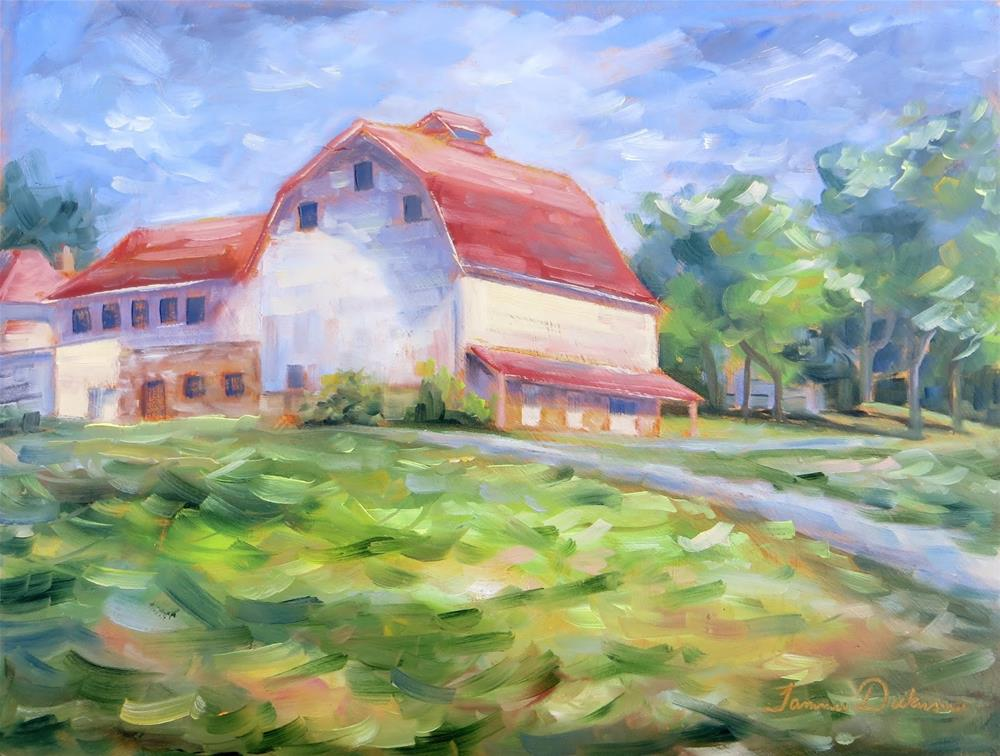 """Old Apple Barn"" original fine art by Tammie Dickerson"