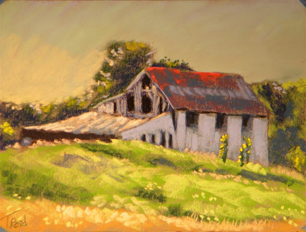 """Red roof barn"" original fine art by Toby Reid"