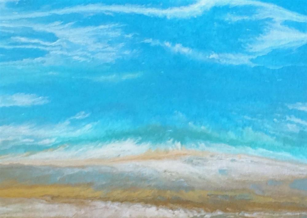 """Contemporary Seascape Painting ,Abstract Beach Art, Coastal Decor Sea Study # 51 by Colorado Artis"" original fine art by Kimberly Conrad"