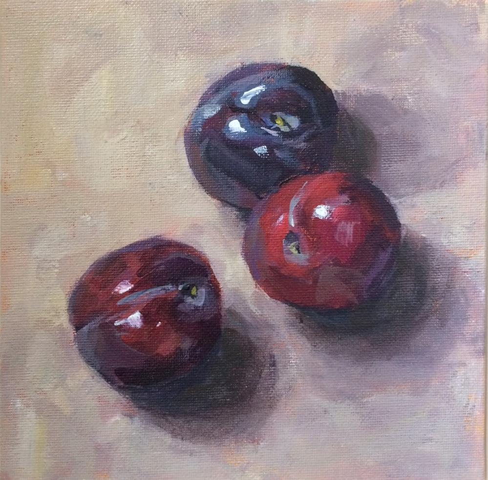 """Just Plums"" original fine art by Shannon Bauer"
