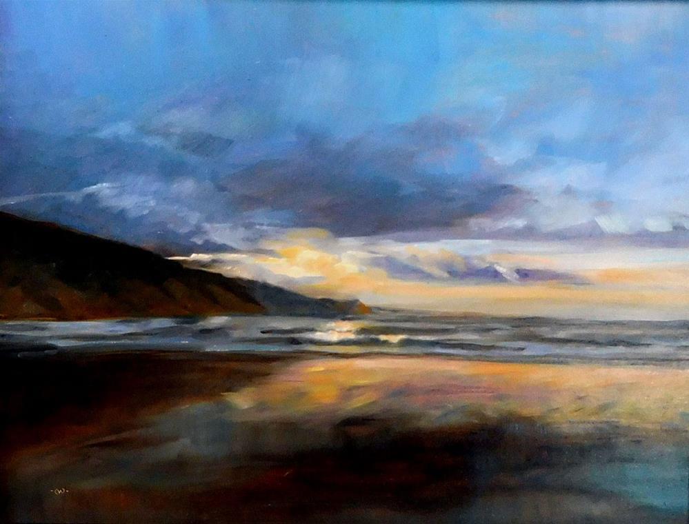 """""""Evening Reflections"""" original fine art by Cietha Wilson"""