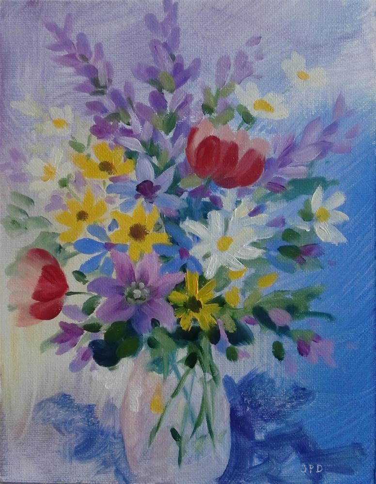 """Floral Bouquet"" original fine art by Jean Pierre DeBernay"