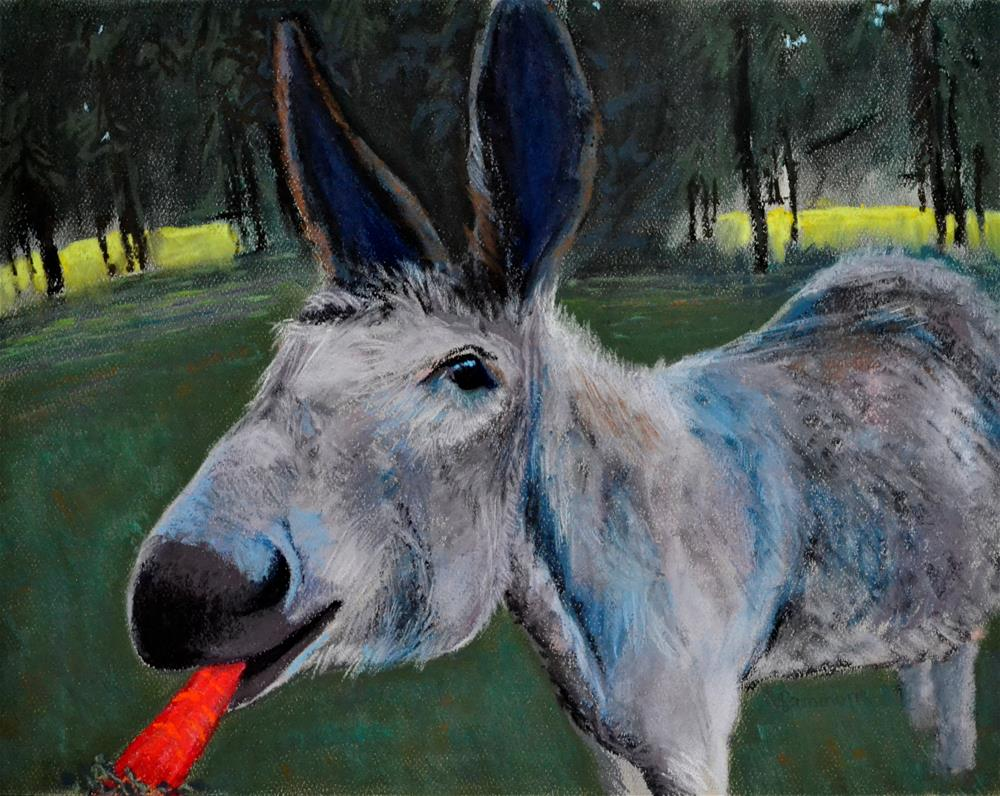 """The Donkey Caught the Carrot"" original fine art by Laurie Sammons"