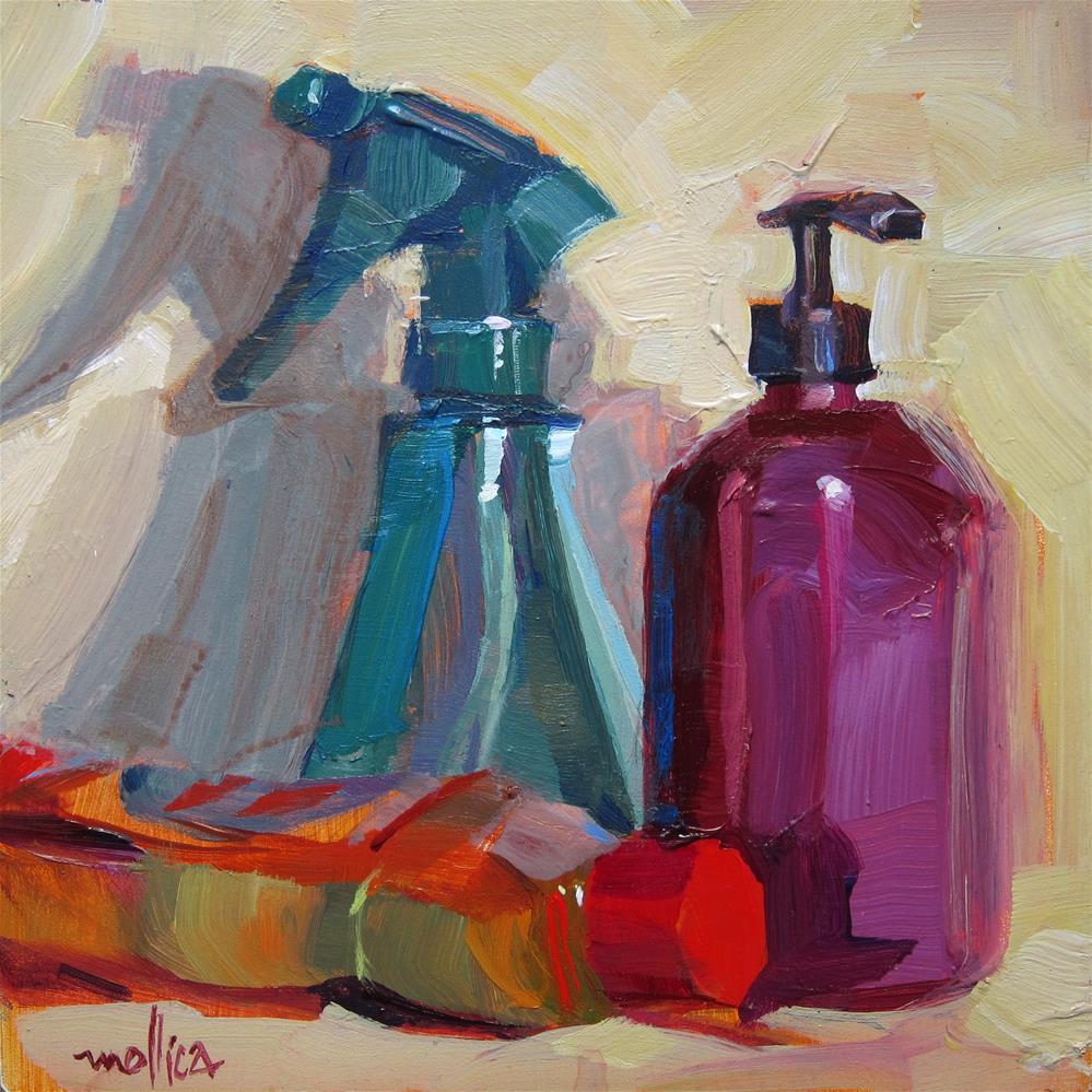 """Cleaning Crew"" original fine art by Patti Mollica"
