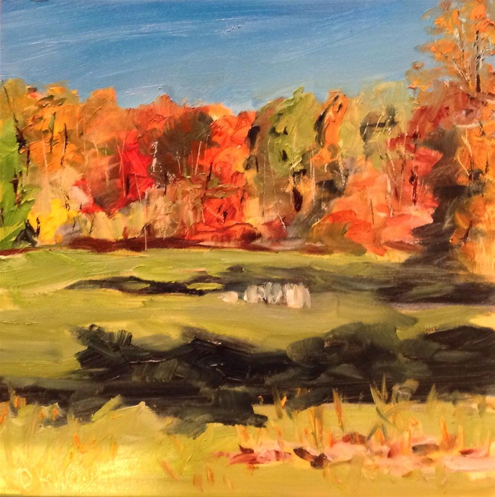 """Rock Meadow 4"" original fine art by Debra Kennedy"