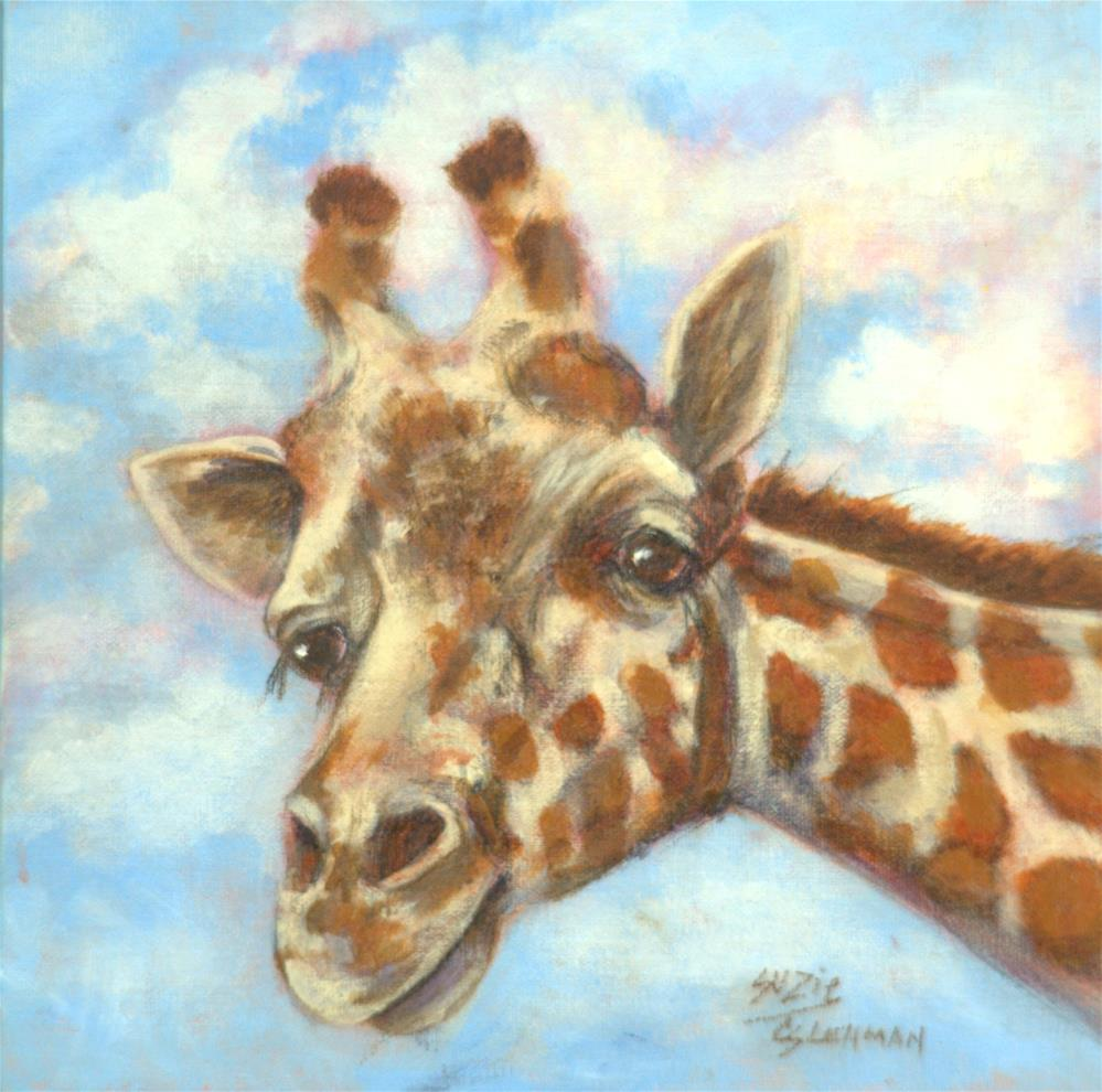 """Aloof Giraffe"" original fine art by Carla Ridener"