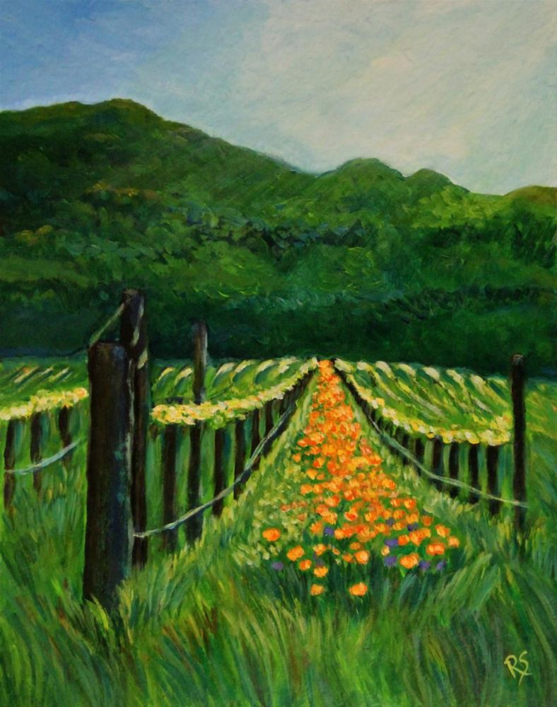 """The Vineyard"" original fine art by Roberta Schmidt"