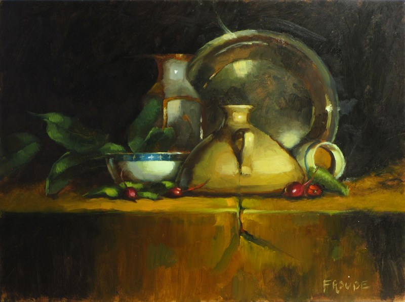 """White bowl"" original fine art by Dave Froude"