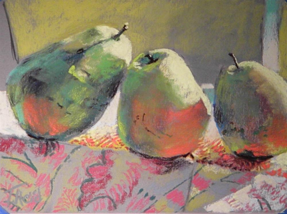"""Three pear reflection"" original fine art by Toby Reid"