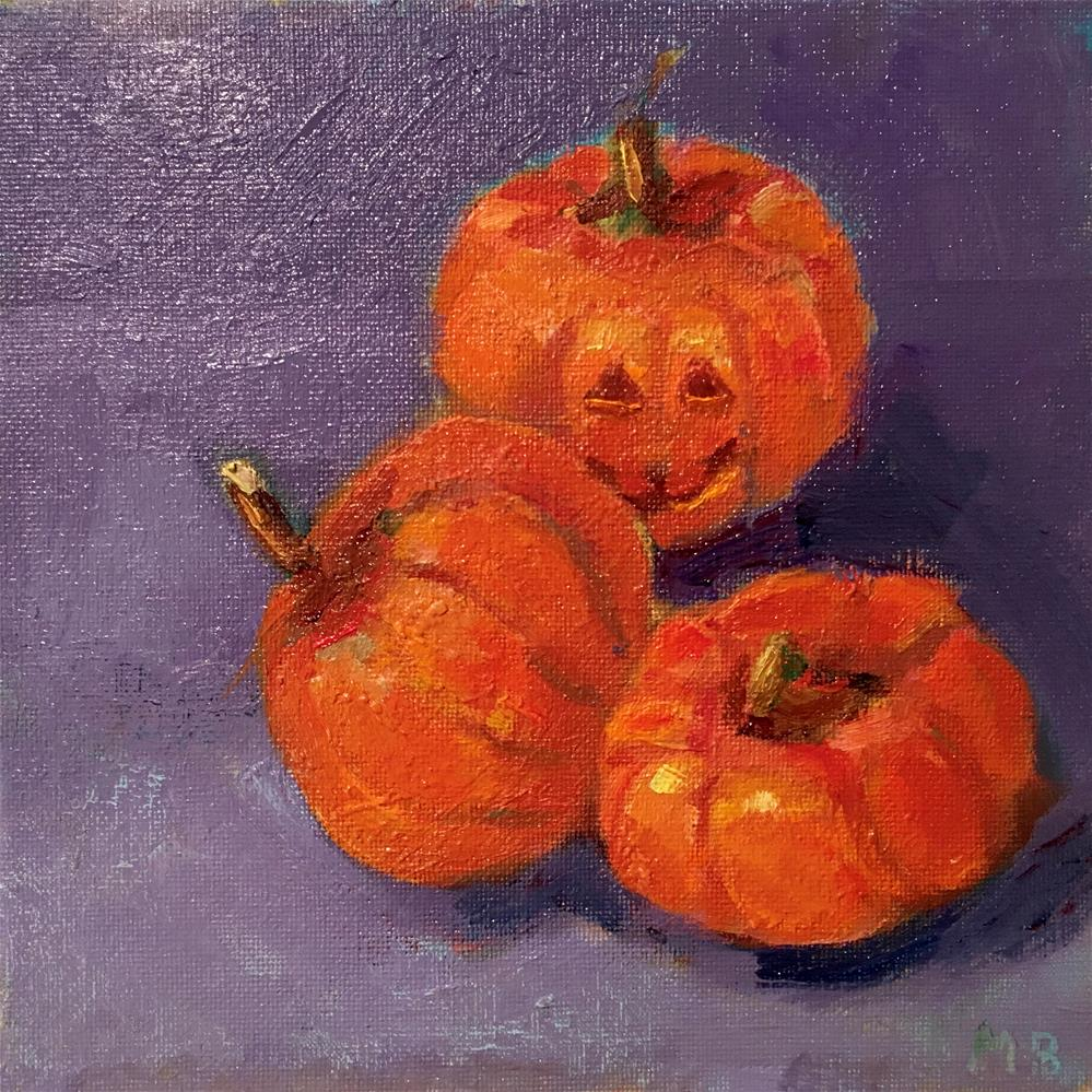 """Boo!"" original fine art by Marcia Bergtholdt"