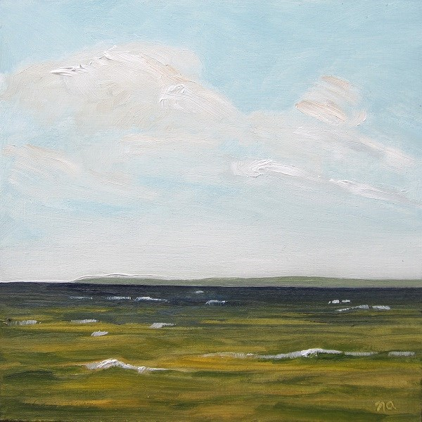 """Wind and Whitecaps, Waskesiu"" original fine art by Nicki Ault"