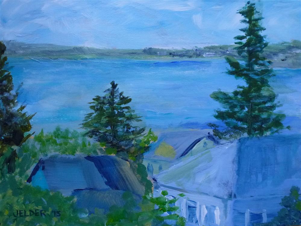 """Blues"" original fine art by Judith Elder"
