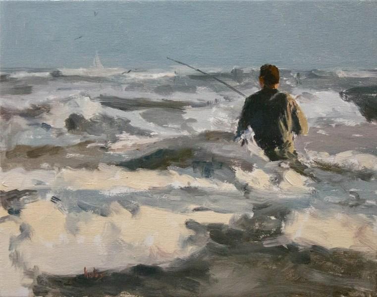 """Fishing the Sea"" original fine art by Randall Cogburn"