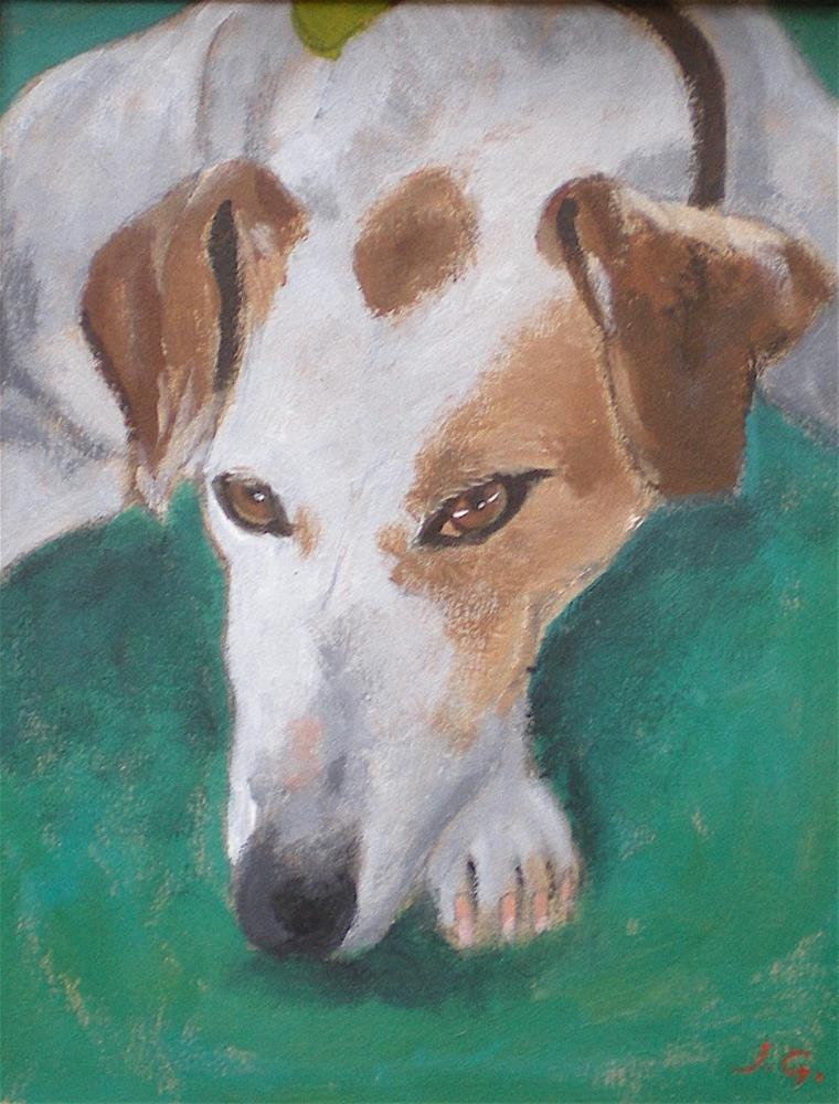 """Monty"" original fine art by John Garbett"