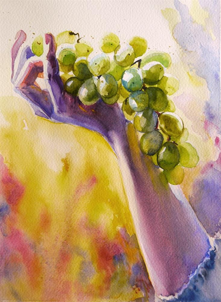 """grape3"" original fine art by Beata Musial-Tomaszewska"