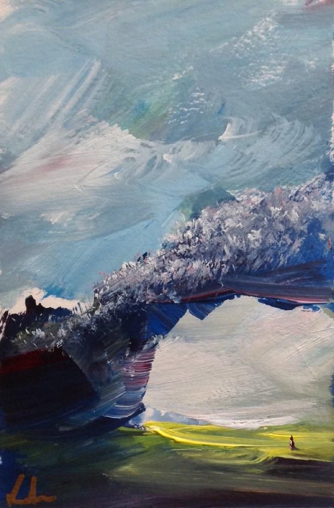"""Ascending"" original fine art by David Kuhn"
