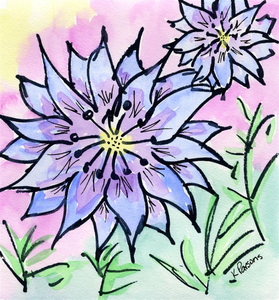 """Black and Blue"" original fine art by Kali Parsons"