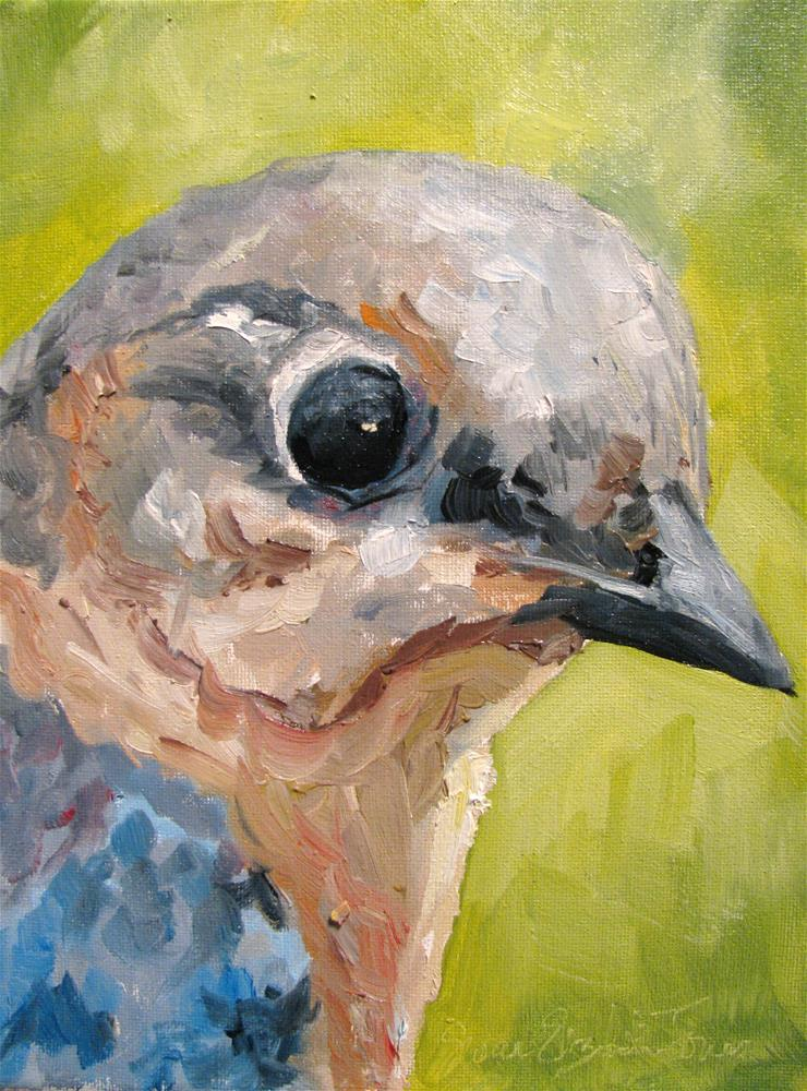 """Female Indigo Bunting"" original fine art by Susan Elizabeth Jones"