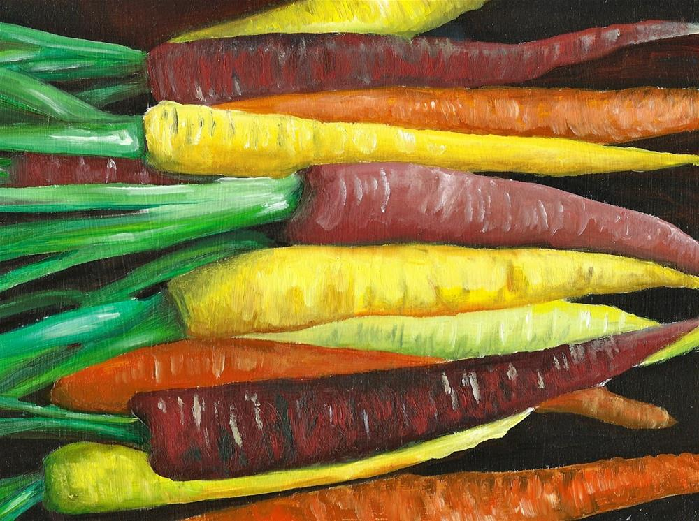 """Carrots"" original fine art by Karen Robinson"