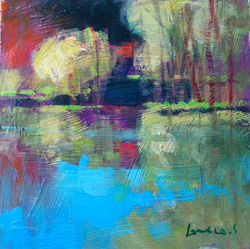 """Reflection at the park"" original fine art by salvatore greco"