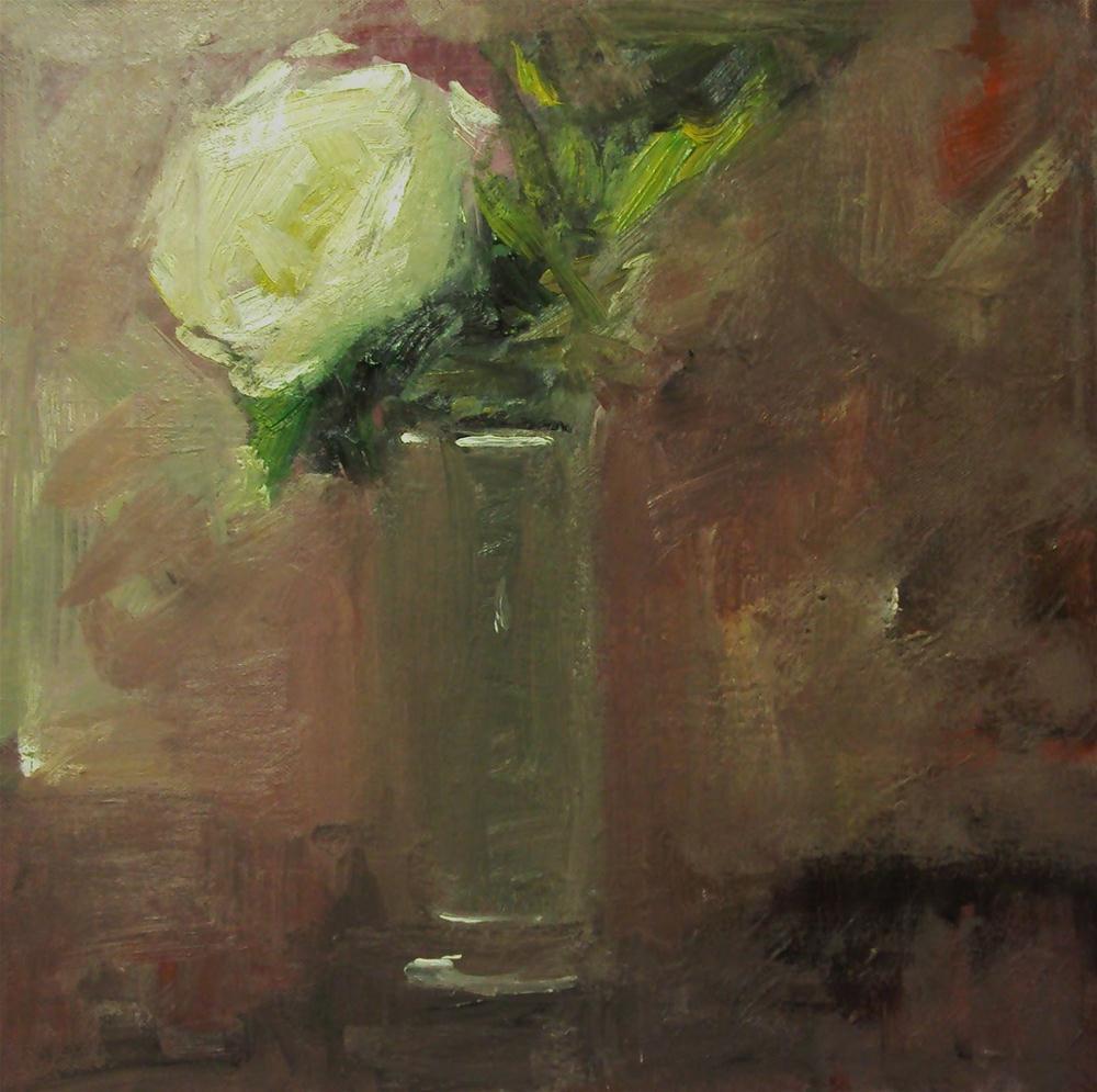 """winter rose"" original fine art by Parastoo Ganjei"