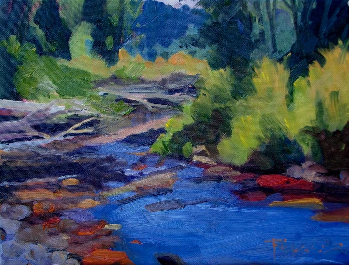 """Little Quilcene River  oil landscape painting"" original fine art by Robin Weiss"