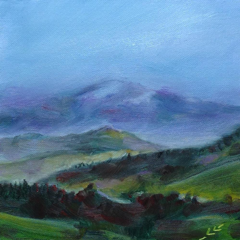 """Fog in the Mountains"" original fine art by Linda Lowery"