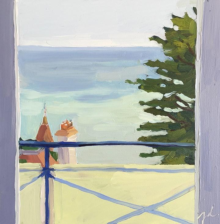 """""""English Channel from Balcony"""" original fine art by Jessie Dodington"""