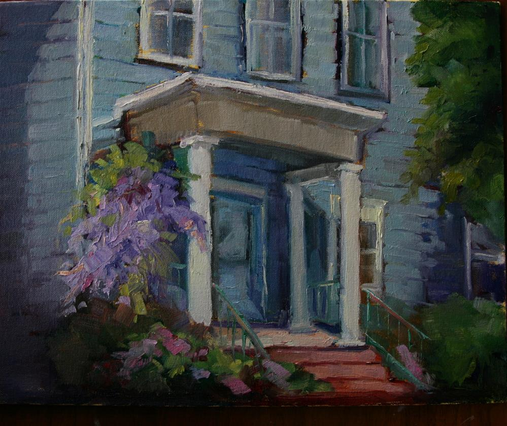 """Wisteria Lane"" original fine art by Carol Josefiak"