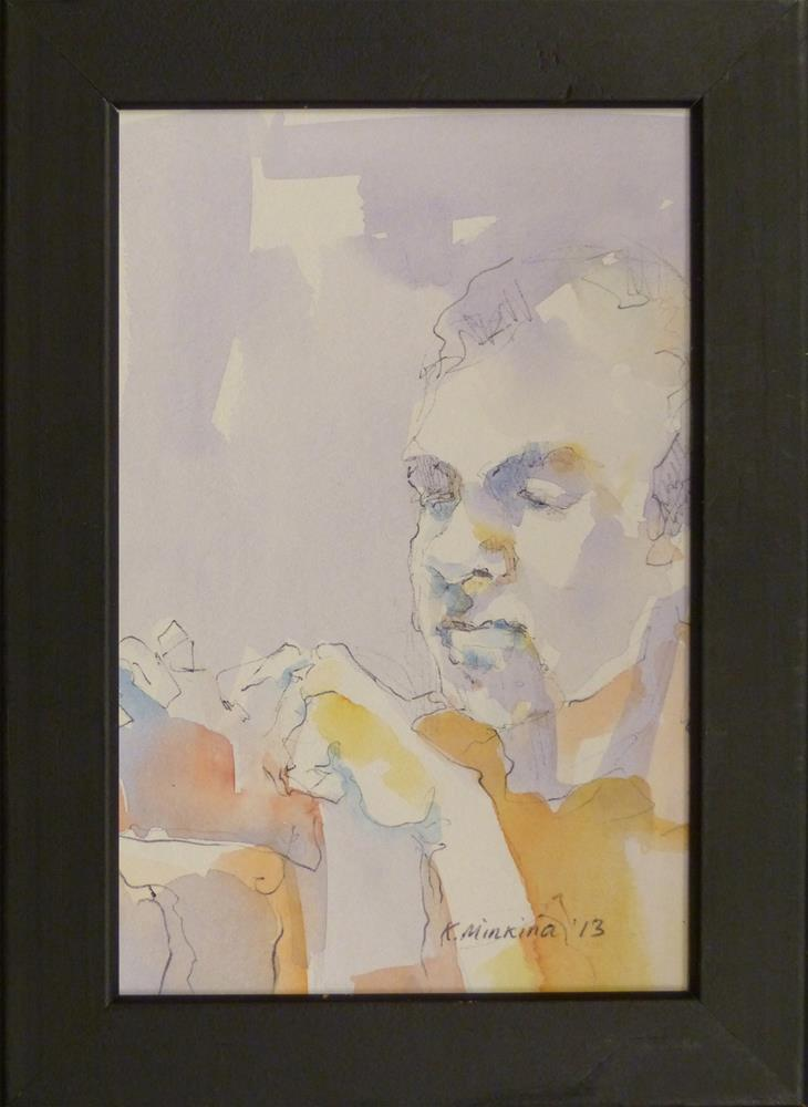 """Cafesketch6"" original fine art by Katya Minkina"
