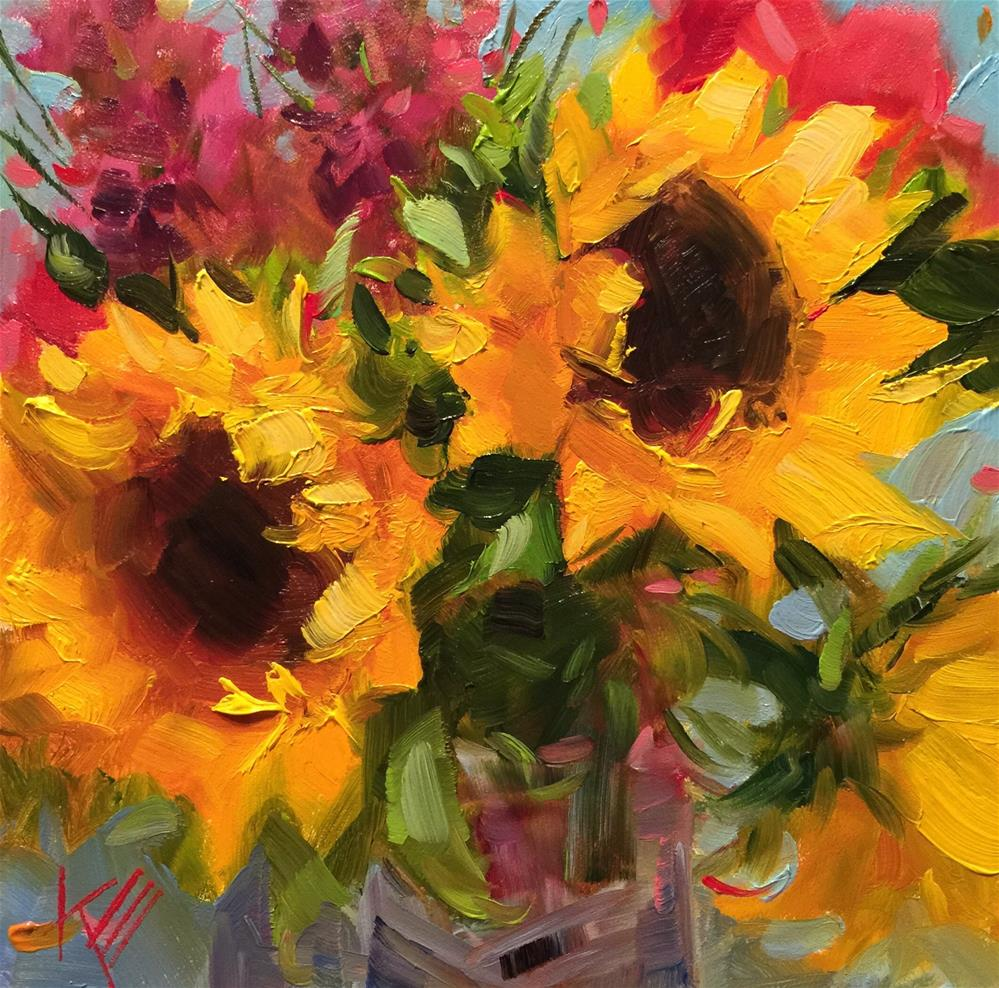 """Sun shines on you"" original fine art by Krista Eaton"