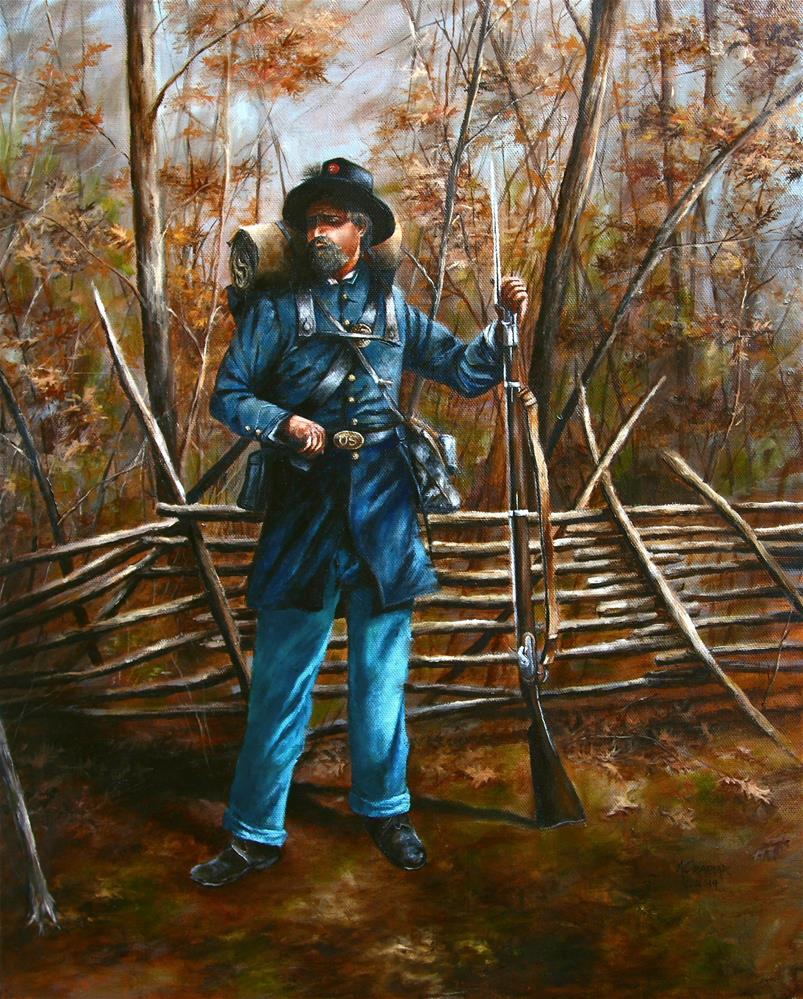 """Second Wisconsin - Iron Brigade"" original fine art by Aaron Grabiak"