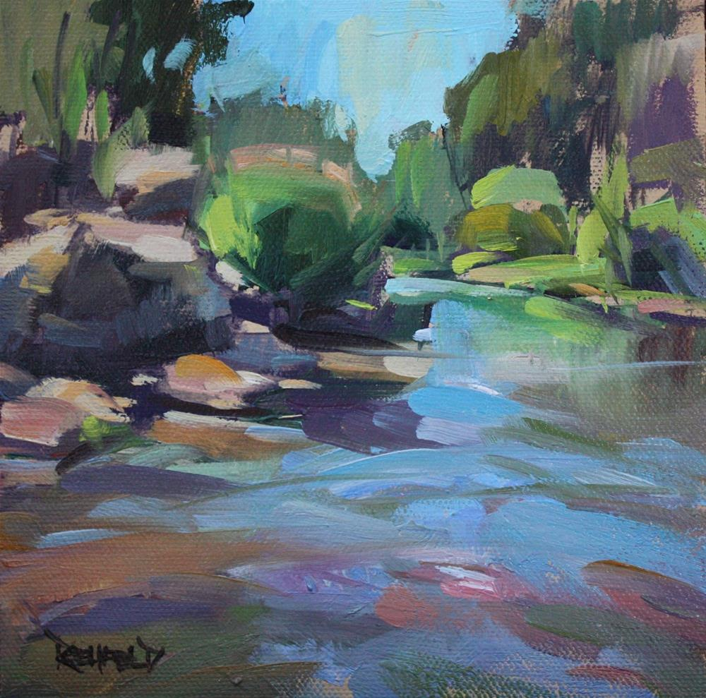 """The Hood River"" original fine art by Cathleen Rehfeld"