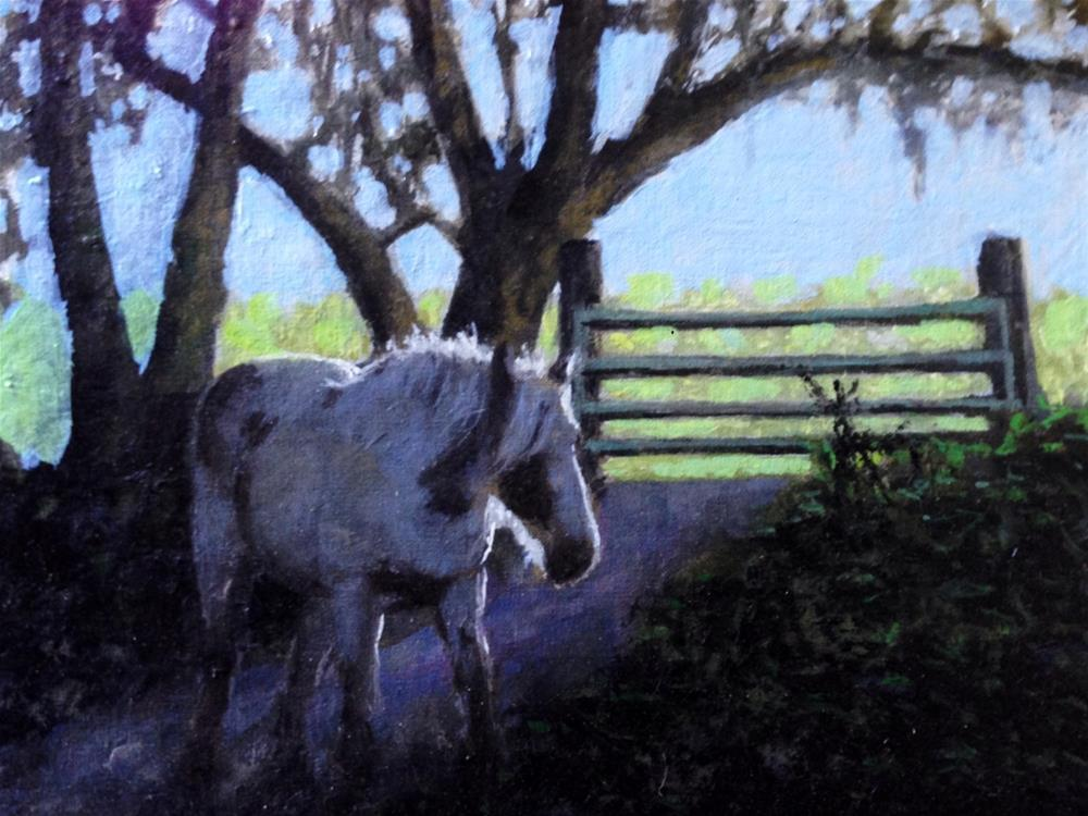"""Gate Keeper"" original fine art by David Larson Evans"