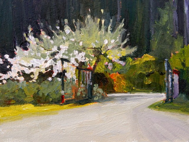 """The Studio Gate oil landscape painting, by Robin Weiss"" original fine art by Robin Weiss"