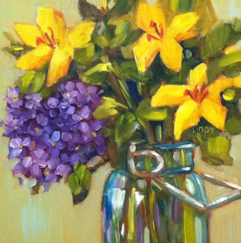 """""""Les Fleurs"""" original fine art by Libby Anderson"""