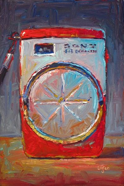 """Sony Six Transistor Pocket Radio"" original fine art by Raymond Logan"