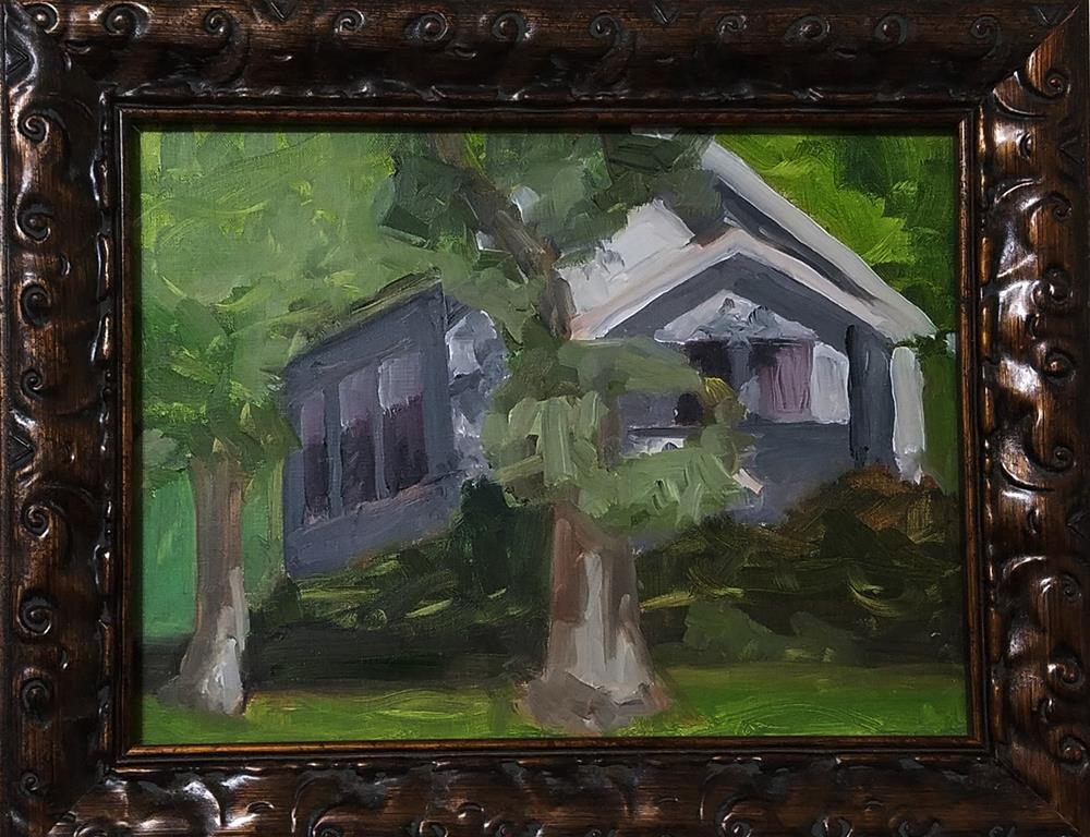 """Littleton Bungalow"" original fine art by Catherine Van Berg"