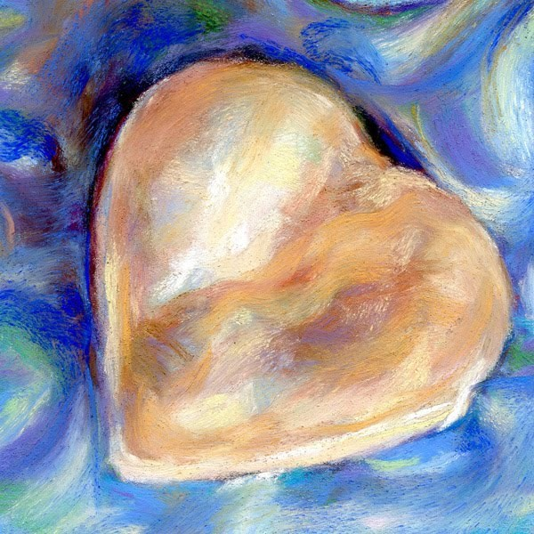 """COOKIE OF LOVE - 4 1/2 x 4 1/2 pastel by Susan Roden"" original fine art by Susan Roden"